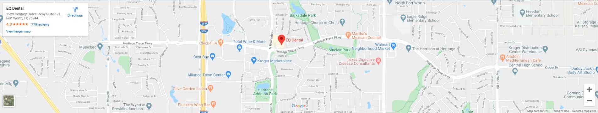 eq-dental-fort-worth-map